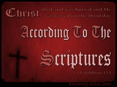 1 Corinthians 15:4 He Was Buried And Raised (red)